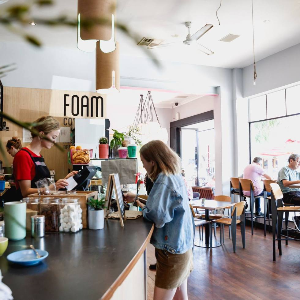 Cafe culture froths more than coffee. Also poured at length is productivity and communication.